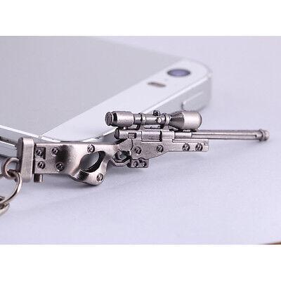 Mini Military AWM Sniper Weapon Gun Model Metal Pendant Keychain Key Ring Gift