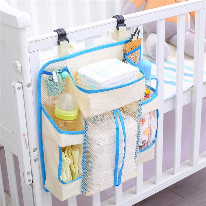 Baby Bed Hanging Storage Bag Newborn Crib Organizer Toy Diaper Pocket Bag Z