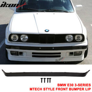 Fits 84-92 BMW E30 Lower Valance OE IS V2 M-Tech Msport Front Bumper Lip Spoiler