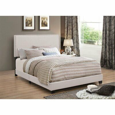 Coaster Nailhead Upholstered California King Bed in Fog California King Upholstered Bed