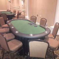 POKER TABLE RENTALS , $ 120.00 COMES WITH ACCESSORIES