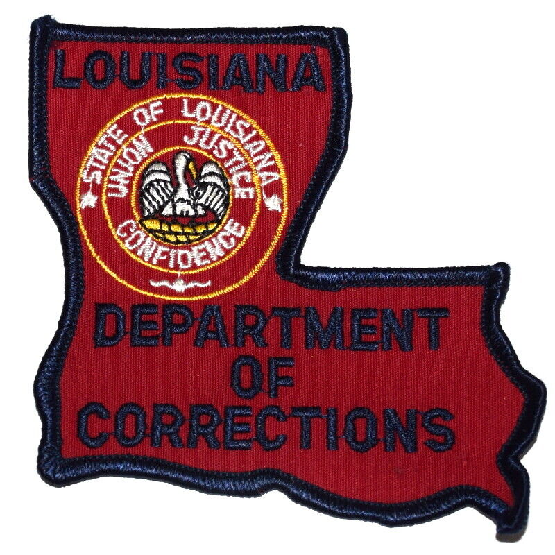 LOUISIANA – DEPT CORRECTIONS – LA Sheriff Police Patch – STATE SHAPE – SEAL ~