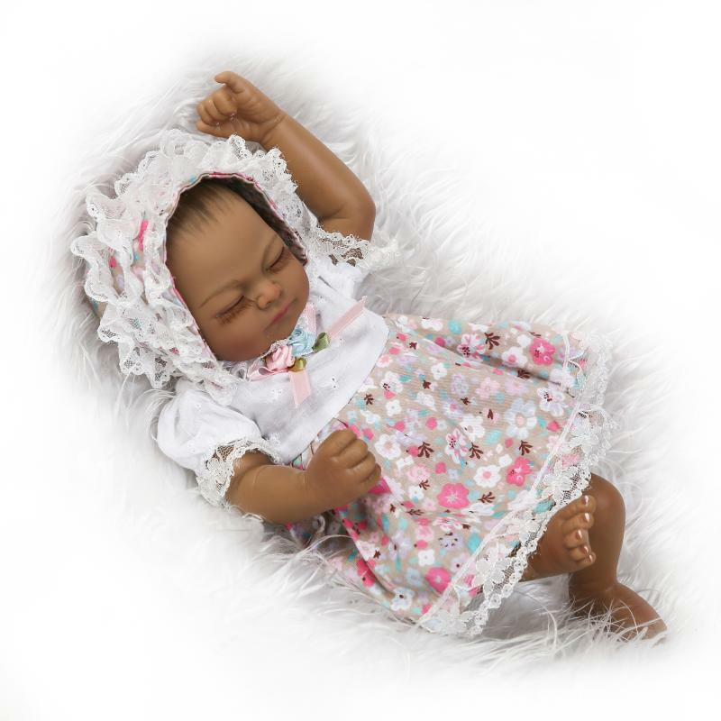 Handmade Full Body Soft Vinyl Reborn Baby Newborn Lifelike Girls Doll 11/""