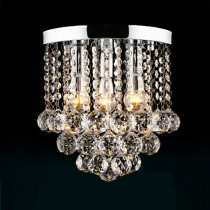 BNIB Crystal Chandelier, Flush Mount Ceiling 3 Lights