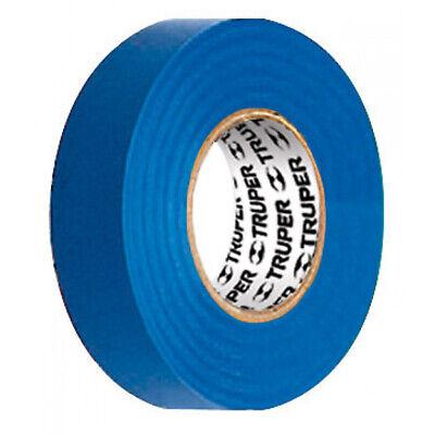 Truper Insulating Electrical Pvc Tape 12505 18 Mx 19 Mm Blue