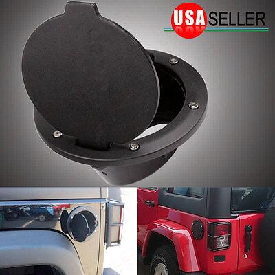 Matte Fuel Filler Door Cover Gas Tank Cap For Jeep Wrangler  07-18 JK 2/4 Door