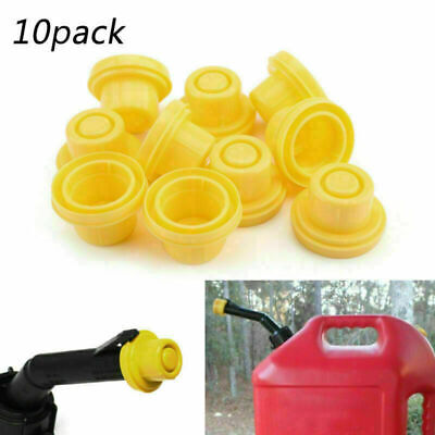10x Replacement Yellow Spout Cap Top For Blitz Fuel Gas Can 900302 900092 900094