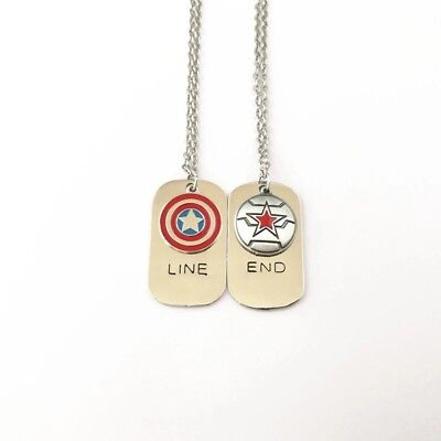Captain America, Winter Soldier, Marvel, Avengers, Friendship Necklace - Avengers Jewelry