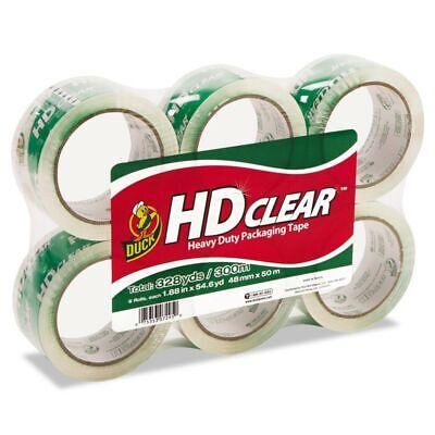 Duck HD Clear Packaging Tape 1.88 Inch X 54.6 Yard Carton Packing Sealing 6-Ct
