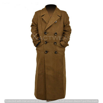 10th Doctor Who Dr. Ten Brown Long Coat Trench Jacket Cosplay Costume - BIG SALE - 10th Doctor Cosplay