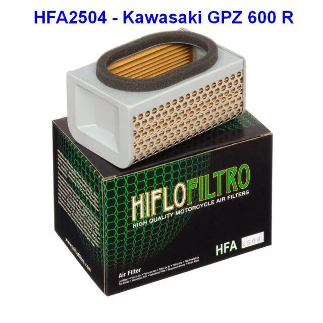 Air Filters Kawasaki GPZ 600 R, ZX600A, 85-89, GPZ 550 UT, 84-86, HFA2504, NEW