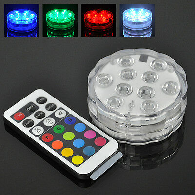 4w ufo rgb 10 led unterwasserlicht farbwechsel beleuchtung unterwasser aquarium ebay. Black Bedroom Furniture Sets. Home Design Ideas