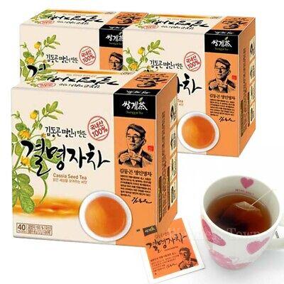 Korean Organic Cassia Seed Tea (40Tea x 3 Box) 120 Tea bags