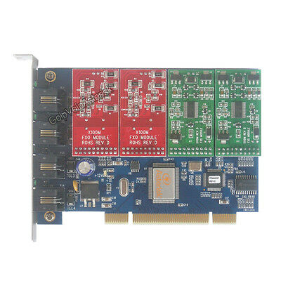 TDM400P 2FXO +2FXS Asterisk card PCI card for trixbox freepbx elastix voip pbx