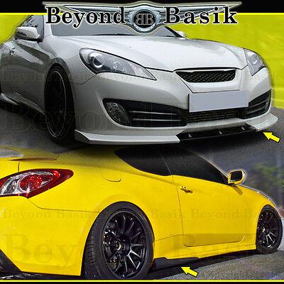 2012 Genesis Coupe - Fits 2010 2011 2012 Hyundai Genesis Coupe 2DR 3pc NEFD Style Aero Lip Body Kit