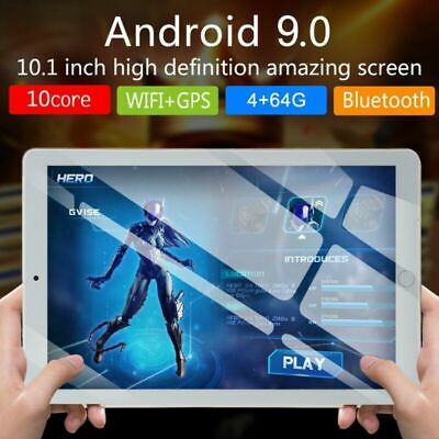 """10.1"""" Dual SIM Tablet PC 64GB 10 Core Android 9.0 bluetooth Wifi GPS Phablet"""
