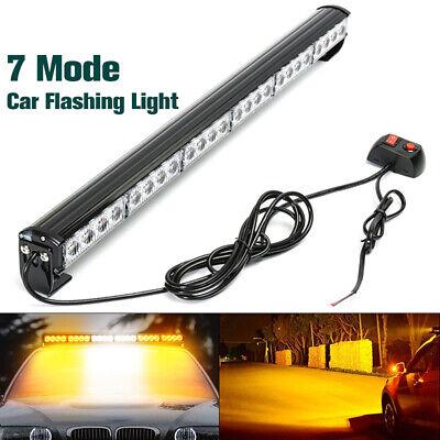 Flash Warning Light (27'' 24 LED Car White Amber Emergency Strobe Light Bar Flash Dash Warning)