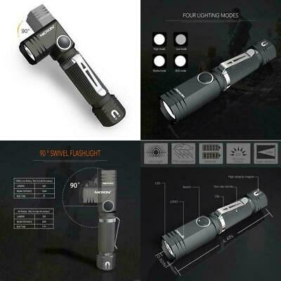 Flashlight, Nicron N7 600 Lumens Tactical Flashlight, 90 Degree Mini Flashlight