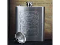 7oz stainless steel Jack Daniels hip flask and free funnel. for sale  Nottinghamshire
