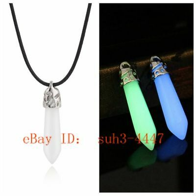 Luminous Stone Pendant Carving Necklace Fashion Charm Jewelry Lucky Amulet Hot (Jewelry Carving Pendant)