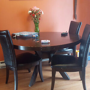 Free Dining table with 4 chairs
