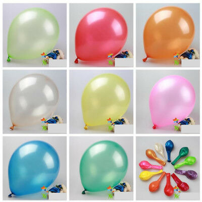 10inch Thick Colorful Round Latex Air Balloon Birthday Wedding Party Decor 50pcs](Round Balloon)