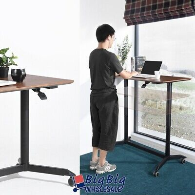 Modern Adjustable Height Stand Up Workstation Computer Laptop Desk Rolling Adjustable Stand Up Desk
