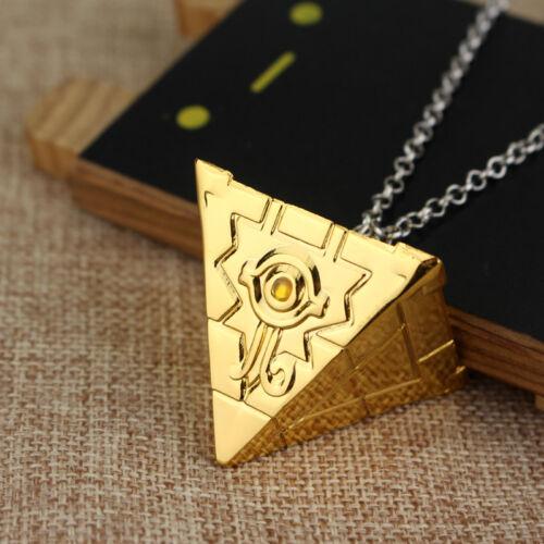 Yu-Gi-Oh Millenium Puzzle Item Yugi Muto Cosplay Gold Pendant Necklace Yugioh