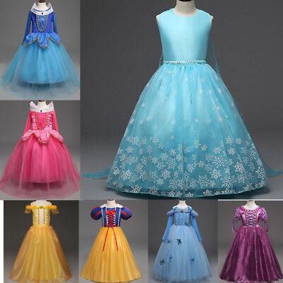 Mädchen Disney Prinzessin Kostüme (Disney Prinzessin Kostüm Kinder Mädchen Cosplay Partykleid Halloween Abendkleid )