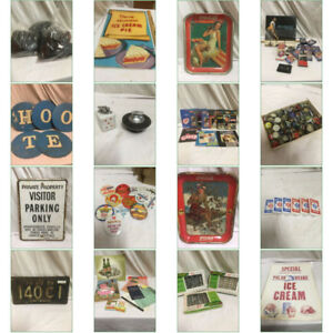Ends June 14 AUCTION, Retro DINER,soda,beer,signs,dairy LOTS $1