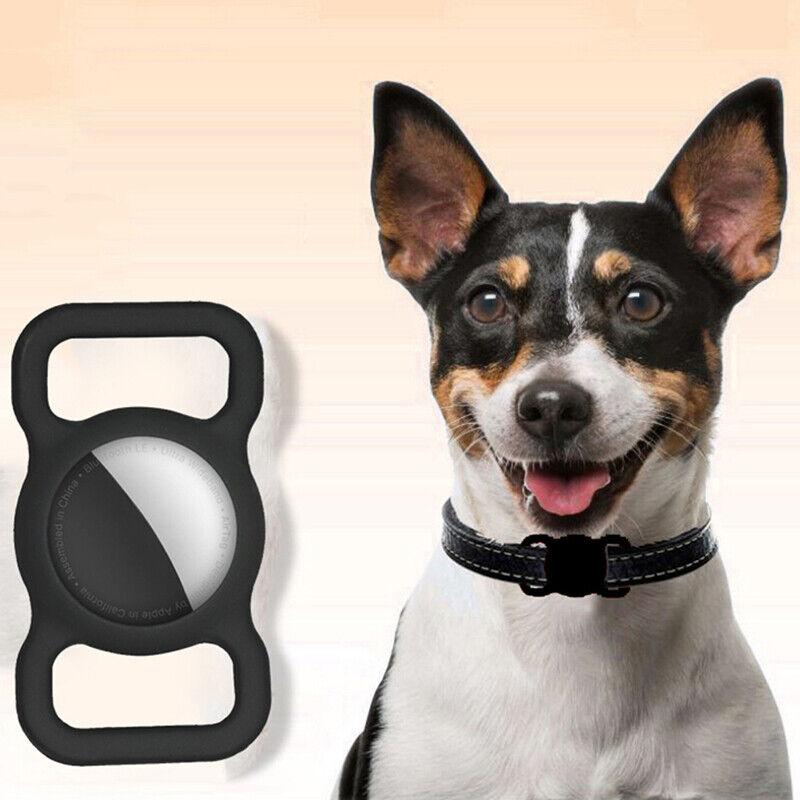 Haustier Silikon Schutzhülle GPS Hund Katzenhalsband Schlaufe für Airtag AntiBPA