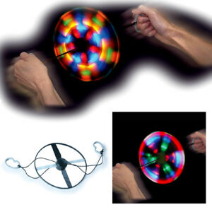 LIGHTSHOW SPINNER LED LIGHT UP SPINNING WHEEL GADGET GIRLS BOYS DISCO PARTY TOY
