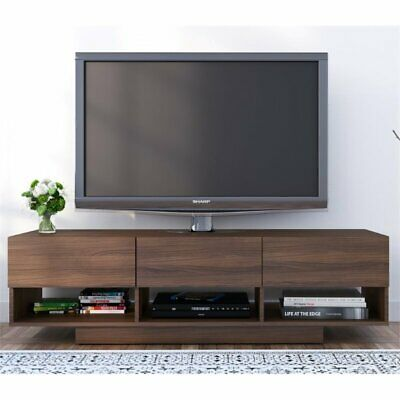 Nexera 105131 Rustik TV Stand 60-inch 3 Drawers Walnut ()