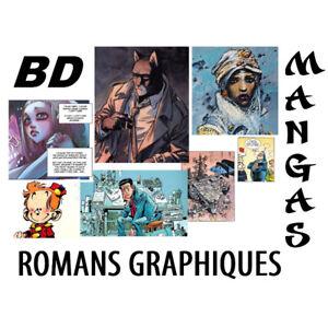 BD Romans Graphiques Mangas. Achat minimum de 40$