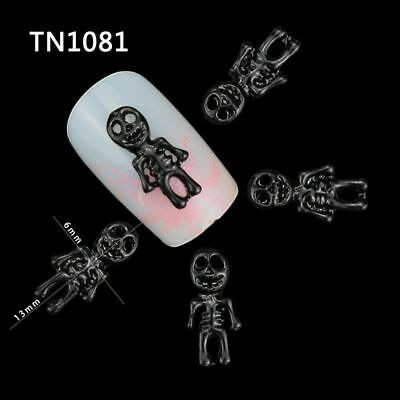 Manicure Halloween Skull Alloy Skeleton Decorations For Nails Charms Accessories