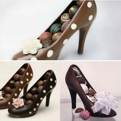 US 3D High Heel Shoe Type Chocolate Mold Candy Cookies Tool DIY Cake Maker (3d Chocolate Candy Mold)