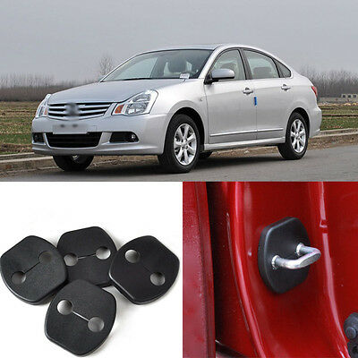 4pcs Door Striker Lock Buckle Cover Guard Protector Decoration For Nissan Sylphy
