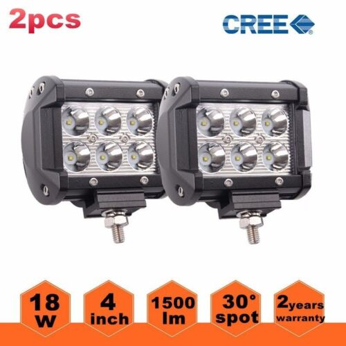 "2x 4"" 18W CREE LED Work Light Bar Spot Offroad 4WD Fog ATV SUV Driving Lamps XUN"