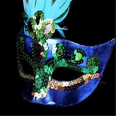 Venezianische Maske Mardi Feather Gras Halloween Cosplay Masquerade Peacock ()