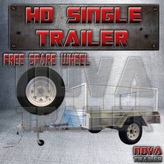 8x5galvanized brand new with cage single axle heavy duty trailer