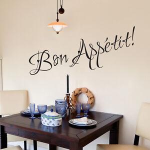 Bon appetit autocollant mural cuisine vinyl art d calque for Decalque mural