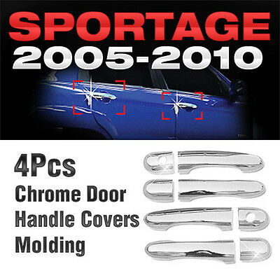 Chrome Side Door Handle Covers Molding Trim A266 For Kia 2005-2010 Sportage