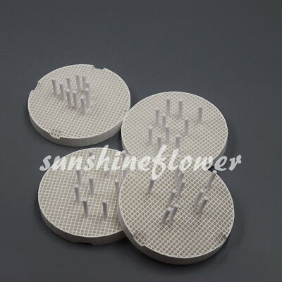 4 Pcs Round Dental Lab Porcelain Honeycomb Firing Trays 40 Pcs Zirconia Pins