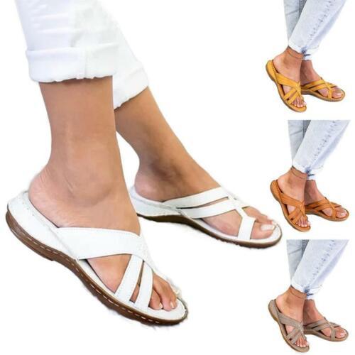 Womens Wedge Platform Sandals Mules Slippers Shoe Bunion Cor