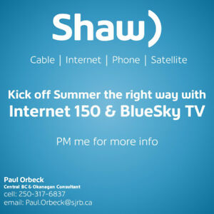 Looking at switching to Shaw, give me a call or email.