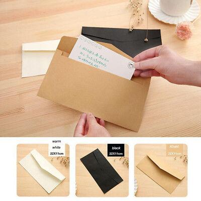 20pcs Pure Color Formal Business Envelopes For Greeting Card Paper Money Bag