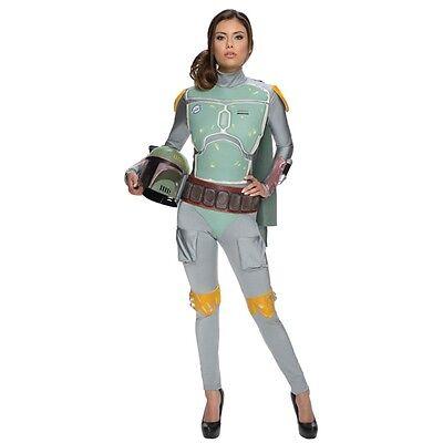 New Stars Wars Boba Fett Female Adult Bodysuit Costume Rubies Small Medium Large](Female Boba Fett Costume)