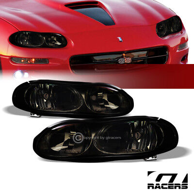 For 1998-2002 Chevy Camaro Oe Style Smoke Clear Housing Headlights Lamps Pair Nb
