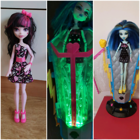 Monster high dolls £5 each draculaura & frankie From a pet and smoke f