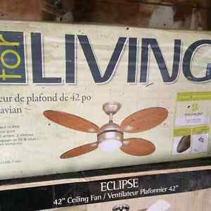 Two ceiling fans for sale with light fixtures